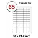 MULTI PURPOSE WHITE LABEL-38X21.2mm-FSLA65-100