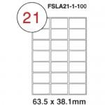 MULTI PURPOSE WHITE LABEL-63.5X38.1mm-FSLA21-1-100