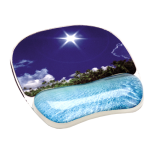 Photo Gel™ Mouse Pad Wrist Support - Tropical Beach