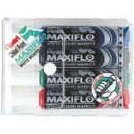 Pentel MWL6 Maxiflow White Board Marker Chisel Tip Wallet of 4Pcs Basic Colors