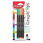 Maped Graph'Peps Fineliner Deco Pack of 4 Colors