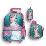 Trolley Bag 18 inches Frozen (BAG + Lunch Bag + Pencil pouch)