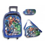 Trolley Bag 18 inches Avengers (BAG + Lunch Bag + Pencil pouch)