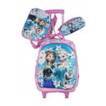 Trolley Bag 15 inches Frozen (BAG + Lunch Bag + Pencil pouch)