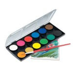FABER-CASTELL Water Colors 12Color 30mm Hang-Sell- 72sets/ctn