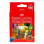 FABER-CASTELL Cardboard packet of 12 color Classic Line Half Size