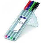 Staedtler 334 Triplus fineline Pack of 4 Colors