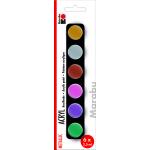 Marabu Acrylic Paints set METALLIC, 6 x 3,5 ml