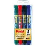 Pentel N860 Permanent Marker Chisel Tip Waller of 4Pcs