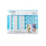 MARTHA STEWART DECOUPAGE LACE TRIM FLORAL WHITE