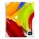 LIGHT® SPIRAL SOFT COVER NOTEBOOK,10X8 INCH 100SHEETS