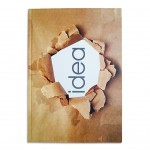 LIGHT HARD COVER NOTE BOOK 100 SHEETS. SIZE : A4