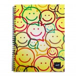 LIGHT® SPIRAL HARD COVER NOTEBOOK, S/L, A4, 100SHEETS