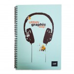 LIGHT® HARD COVER NOTEBOOK SINGLE LINE, A4, 100 SHEETS