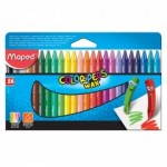 Maped Color Peps Wax Crayons 24 Color Set