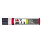 Marabu 3D-Liner, 631 3D-cherry red, 25 ml