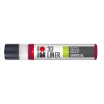 Marabu 3D-Liner, 638 3D-ruby red, 25 ml