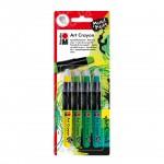 Marabu Art Crayon blister assortment of 4 GREEN JUNGLE