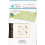 MARTHA STEWART LACE FLOWERS PATTERN PUNCH ALL OVER THE PAGE