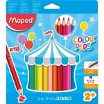 Maped Color Peps Jumbo 18 Color Set