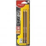 Maped Black Peps Learning HB Pencils 2Pcs + Sharpner