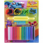 Kiddy Clay Modelling Clay set of 12 Color and 4 Mold
