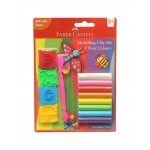 FABER-CASTELL 8 Modelling Clay 100 GM Blister with Jigsaw Tools