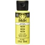 Folkart Neon Matte Acrylic Paints Neon Yellow