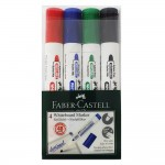 FABER-CASTELL Whiteboard Marker(253942) W20 asst 4x PET Box Red/Blue/Green/Black