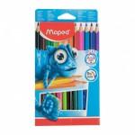 Maped PULSE Color Pencil Jumbo 0% wood Set of 12 Colors