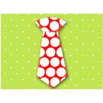PLAID FABRIC LRG RED DOT TIE