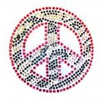 RHINESTONE MED ZEBRA PEACE SGN
