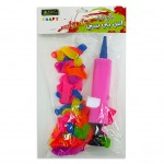Small Balloons With pump 30pcs Assorted Colour