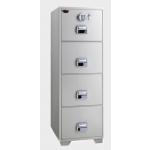 EGLSF6804EKX Fire Resistant 4 Drawer Filing cabinet  with Castor RAL 9002