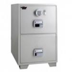 EGLSF6802EKX Fire Resistant 2 Drawer Filing cabinet with Castor RAL 9002
