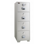 EGLSF6804EKK Fire Resistant 4 Drawer Filing cabinet with castor RAL 9002