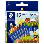 Staedtler 2200-NC Wax Crayon Set of 12 Colors