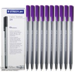 Staedtler 334-06 Triplus fineliner Violet Box of 10 Pcs