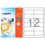 Formtec Label 1200/97x42.4mm #12 Box of 100 Sheets
