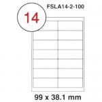 MULTI PURPOSE WHITE LABEL-99X38.1mm-FSLA14-2-100