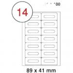 MULTI PURPOSE WHITE LABEL-89X41mm-FSLA14-4-100