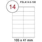MULTI PURPOSE WHITE LABEL-105X41mm-FSLA14-5-100