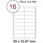 MULTI PURPOSE WHITE LABEL-99X33.87mm-FSLA16-2-100