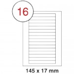 MULTI PURPOSE WHITE LABEL-145X17mm-FSLA16-3-100