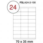 MULTI PURPOSE WHITE LABEL-70X35mm-FSLA24-2-100