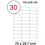 MULTI PURPOSE WHITE LABEL-70X29.7mm-FSLA30-100
