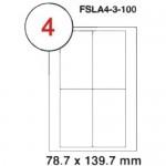 MULTI PURPOSE WHITE LABEL-78.7X139.7mm-FSLA4-3-100