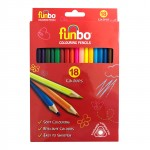 Funbo Coloring Pencils Set of 18 Colors