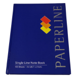 Paperline Hard Cover Single Line Notebook 100 sheets A4 Size