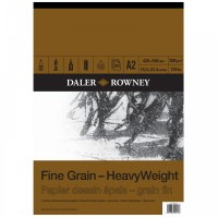 Daler Rowney Sketching Fine Grain Heavyweight Pad (30sht/200gsm) A2